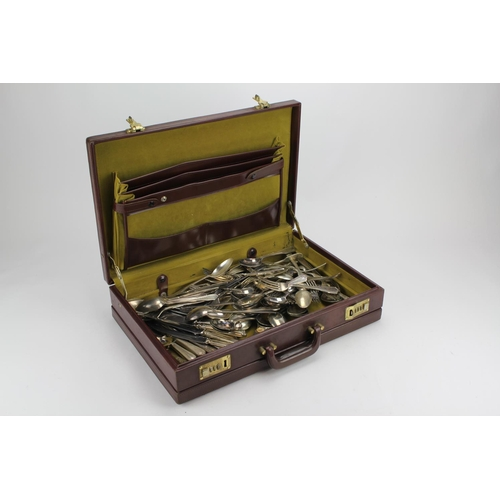 43 - A Case containing a large Quantity of Plated Cutlery, l'aperitif....