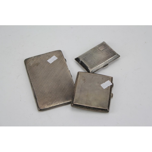 2 - Three Various Silver Cigarette Cases....