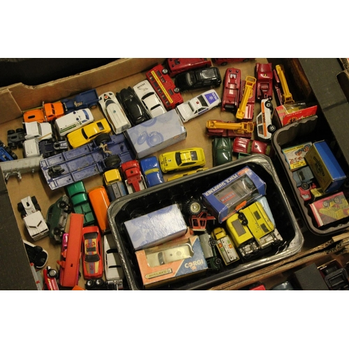 414 - 5 x Boxes of unboxed models to include: Matchbox, Corgi, EFE, Lledo, etc. (200+ Models) All in Poor ...