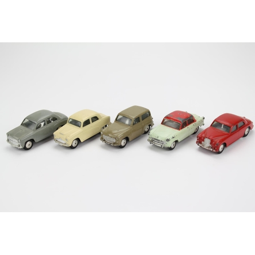 2 - 5 x 1950's Corgi Models to include: 205 Riley, 202 Morris Cowley, 206 Hillman Husky, 207 Standard Va...