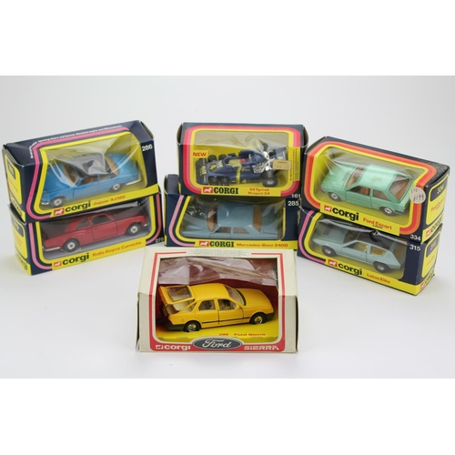 3 - 7 x 1970's Corgi Models to include: 315 Lotus Elite, 279 Rolls Royce, 286 Jaguar XJ12, 161 Elf Tyrel...