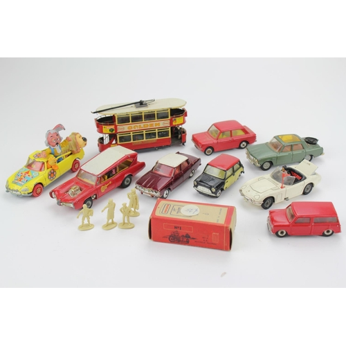 4 - 10+ 1960's models to include, Corgi Rover 2000, James Bond Toyota, Monkee Mobile, Dougal's Car, etc....