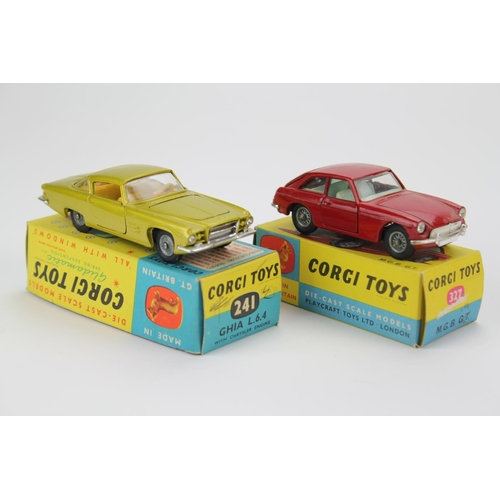 18 - 2 x Corgi models to include: No: 327