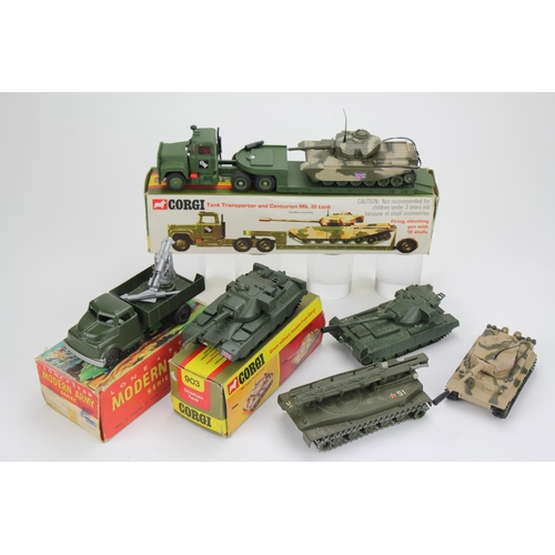 25 - A Collection of Military models to include a Boxed Corgi No: 10