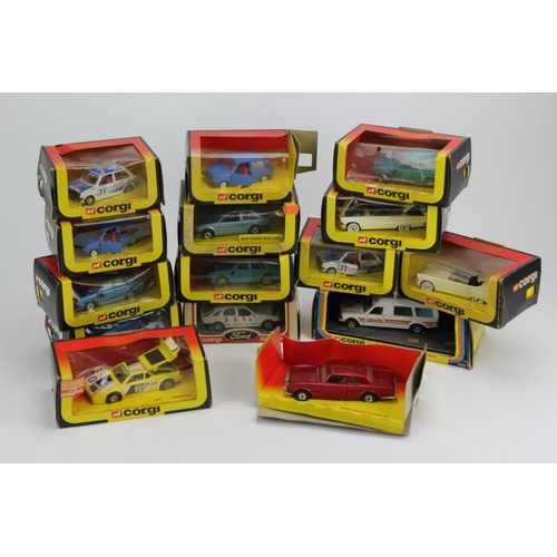 28 - A Collection of 15 x mostly 1980's Corgi Models to include 279 Rolls Royce, Mercedes Ambulance, Triu...