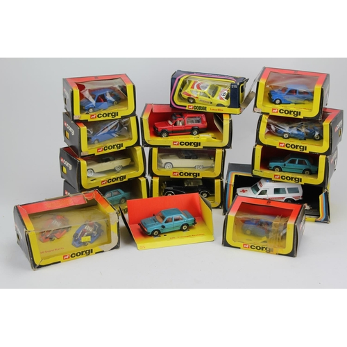 29 - A Collection of 15 x mostly 1980's Corgi Models to include Mercedes Ambulance, Ford Thunderbird, Min...