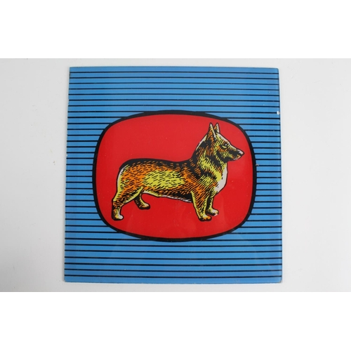 41 - This is a Scarce Corgi Glass Dog Sign removed from an Old Toy Shop in Lymington from the 1960's. The...