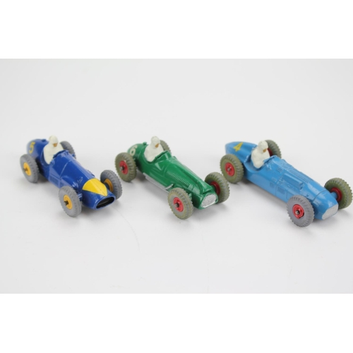 79 - 3 x Dinky Racing cars to include: 234 - Ferrari with Scarce Triangle Yellow Nose & Plastic Hubs, 233...