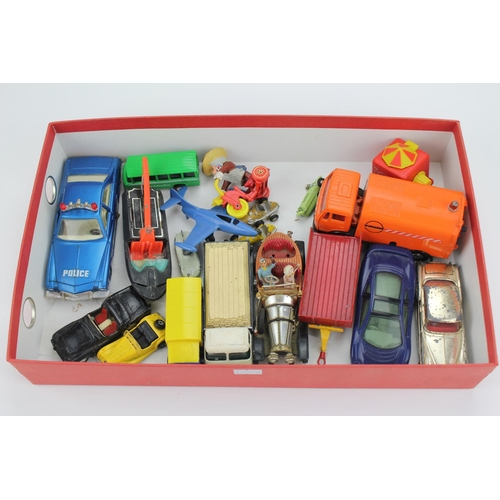 98 - A collection of models to include Chitty Chitty Bang Bang, Rolls Royce, Road Sweeper, etc, all Fair/...