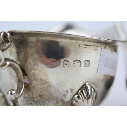 15 - Two Silver Sauce Boats, one with a