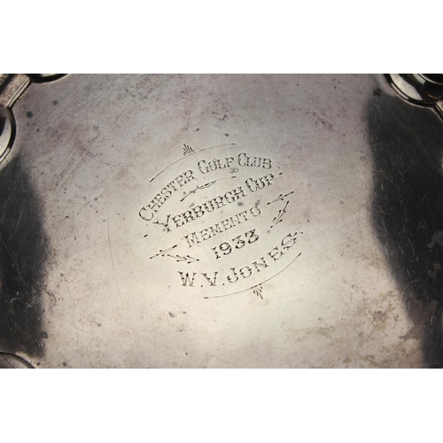 17 - A Lovely Silver Salver decorated with a