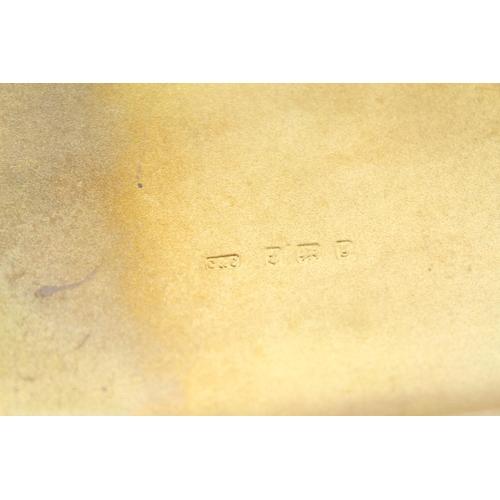 27 - An Edwardian Silver engraved Cigar Case with Gilt interior. Birmingham 1906. Weighing 176 Grams.