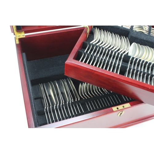 47 - A Large Two Tiered Cased Cutlery set made by