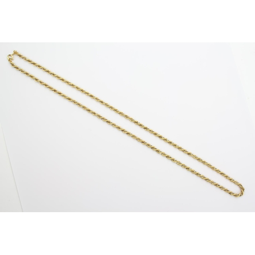 42 - A Ladies 18ct Gold Hollow Twist Long Chain. Weighing: 26 Grams....
