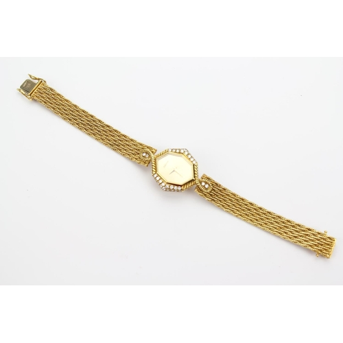 119 - A Beautiful Ladies 18ct Gold Cocktail Watch, Made by