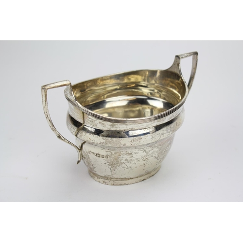 9 - A Mappin and Webb Georgian Design Two Handled Silver Sugar Bowl London P. Weighing 217 Grams....