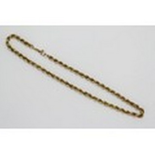 93 - A Ladies 9ct Gold Twist Chain with Safety Catch. 14.4 grams....