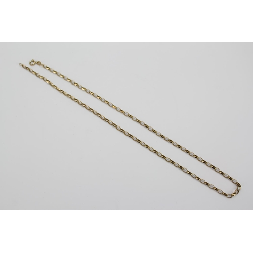 55 - A 9ct Italian Gold Chain Link Necklace. Length 47 cms. Weighing: 5g....