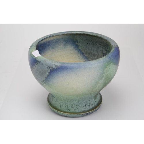 240 - A Scarce Adrie Moerings hand made High Fired Glazed Blue & Grey Lustre Pot for Gouda in various colo...