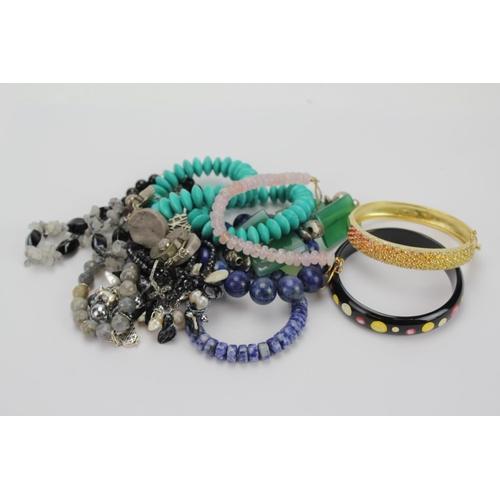 74 - A Lapis design Bangle, Quartz, Modern Jewellery, etc....