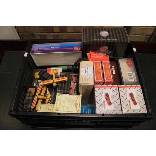 328 - A Crate of Mostly Boxed Models to include Corgi, Matchbox, American Classics, etc (25+ Models).
