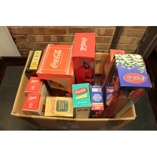 329 - A Collection of 12 x Coca Cola & Pepsi Models to include: 1/43rd to 1/18th scale all in Original Box...