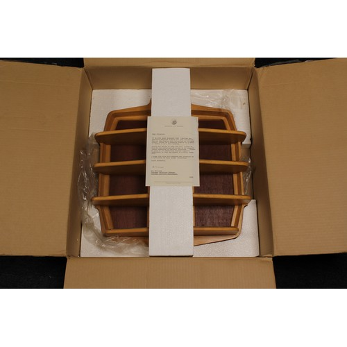 353 - An Original Franklin Mint Wooden Stand to hold 12 x Classic Cars of the 60's in Original Box with pa...