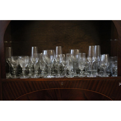 327 - A Large quantity of Commemorative Glass & cut Glass including Wines, Sherry, etc. (50+ Pieces)....