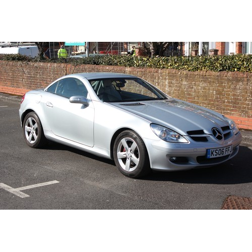 329 - A 2006 Mercedes SLK200 Convertible finished in Silver with Grey Leather, Nice History, 71,000 Miles,...