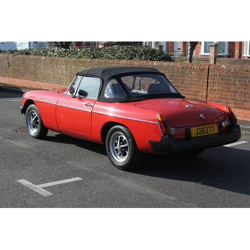 328 - A Lovely 1977 MGB Roadster finished in Red with Black interior & Black Soft Top. The car was sold ne...