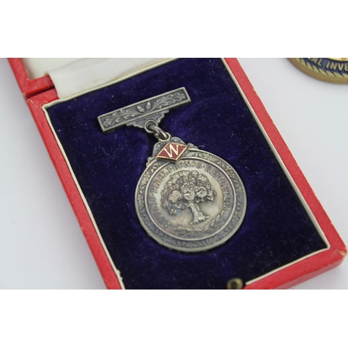 265 - A Silver and Gold Twenty one Year Faithful Service at Woolworths Awarded to R.S. Gibbons 1922-1948. ...