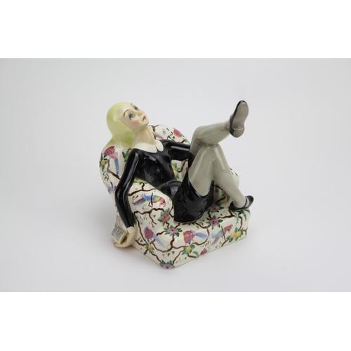 238 - A Scarce 'Primo Romanzo' a Lenci earthenware figure by Helen König Scavini Circa 1932. Modelled as a...