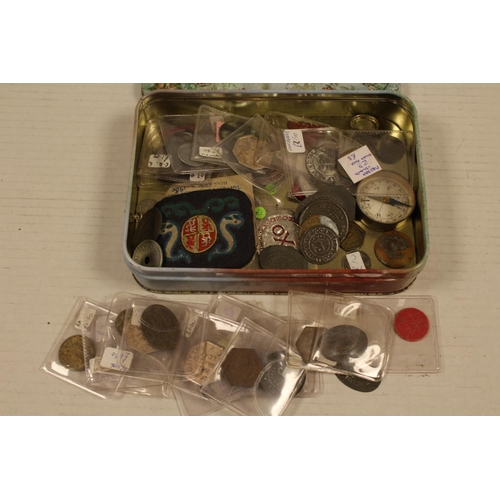 261 - A Collection to include: CO-OP tokens, Compass, Coins, etc....