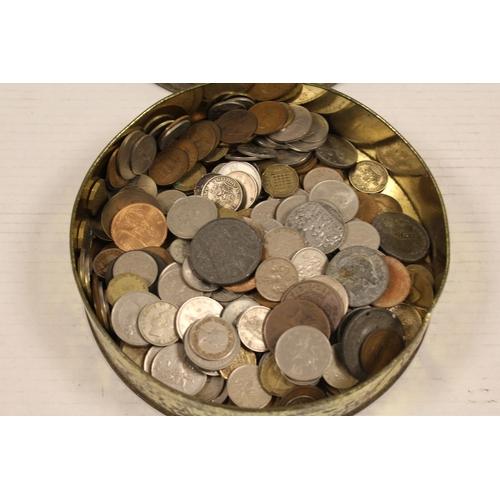 248 - A Tin of various coins.