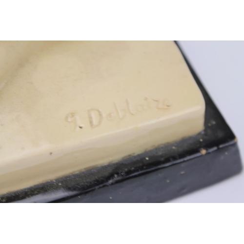 237 - Scarce Art Deco Figurine signed G. Deblaize. Measuring 36cms long x 28cms High....