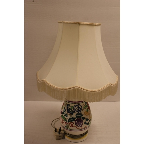 632 - A Poole Pottery Lamp with Shade.
