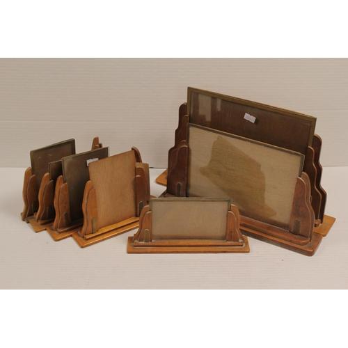 577 - A quantity of Art Deco Oak Photograph Frames in various sizes.