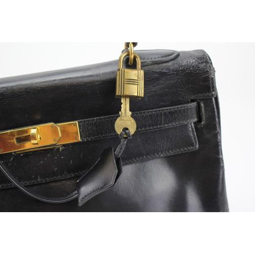 274 - A 1970's Hermes Black Bag