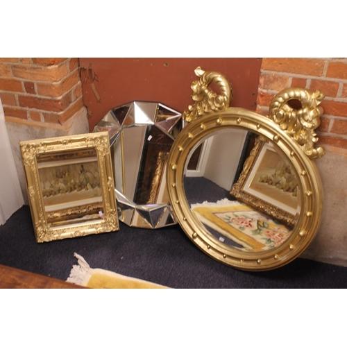 417 - Three various mirrors, one Georgian design.