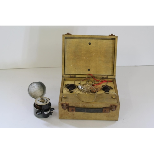 674 - A Late 19th Century Gunfire Controller (made in Bournemouth) along with an Electro Magnetic Hand Hol...