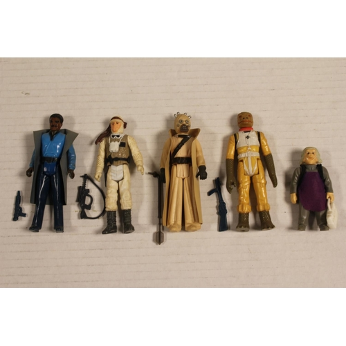 193 - Kenner Star Wars 1980's set of four loose figures, to include Tuskan raider etc, all including acces...