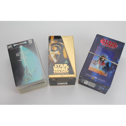 329 - 3 x Sets of the Star Wars Trilogy Videos. All Boxed.