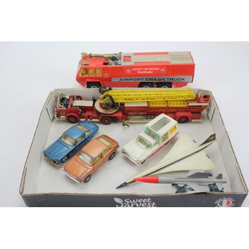 2 - A Collection of Corgi to include: La France Fire Engine, Airport Fire Engine, Concorde BOAC, Kennel ...