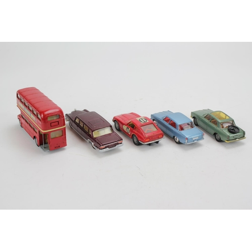 3 - A Tray of 5 1960's Corgi Models to include 2 x Rover 2000's, Mercedes 600, Routemaster Bus and a Dat...