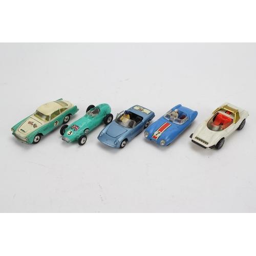 5 - A Tray of 5 x 1960's Corgi Models to include: Lotus Le Mans, Alfa Romeo, Lotus Elan, BRM F/1 and an ...