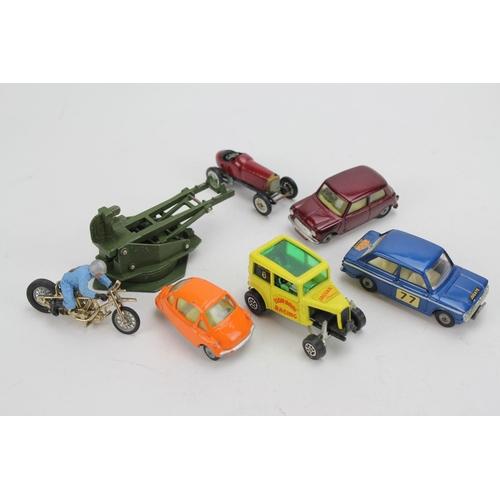 6 - A Tray of 6 x 1960's Corgi models to include: Heinkel Bubble Car, Hillman Imp Monte Carlo, Mini Mino...