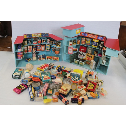 222 - 2 x Original 1960s Toy Shop Displays (Possibly Triang or Chad Valley) to include 100+ Original Tins ...