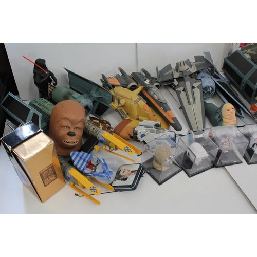 196 - A Large Collection of Original Star Wars Space Ships & Memorabilia.