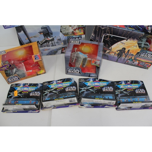 198 - 14 x Boxed Star Wars from the 1990s to include Action Fleet Sets, Micro Machine Sets, etc.
