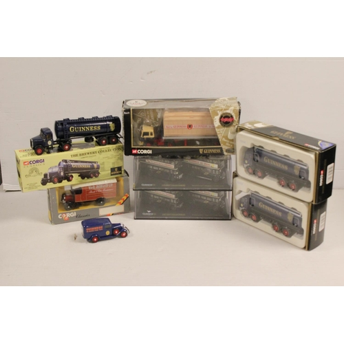 45 - A Collection of Corgi Guinness models all long with one other, All Boxed. (8 in Total)....